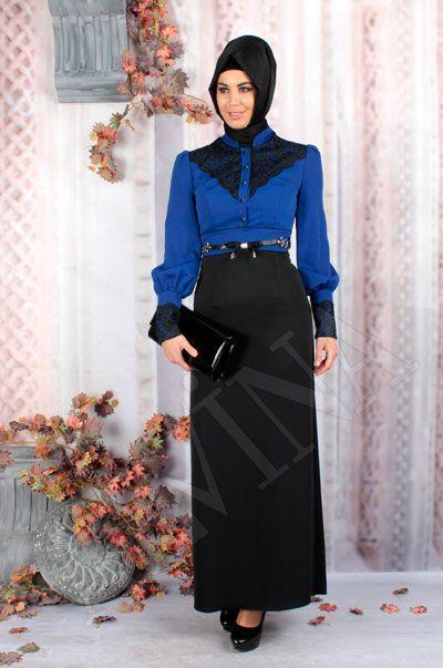 Ozne Olmak Siyah Gupurlu Kadife Tesettur Elbise Goruntuler Ile Elbise Elbise Modelleri