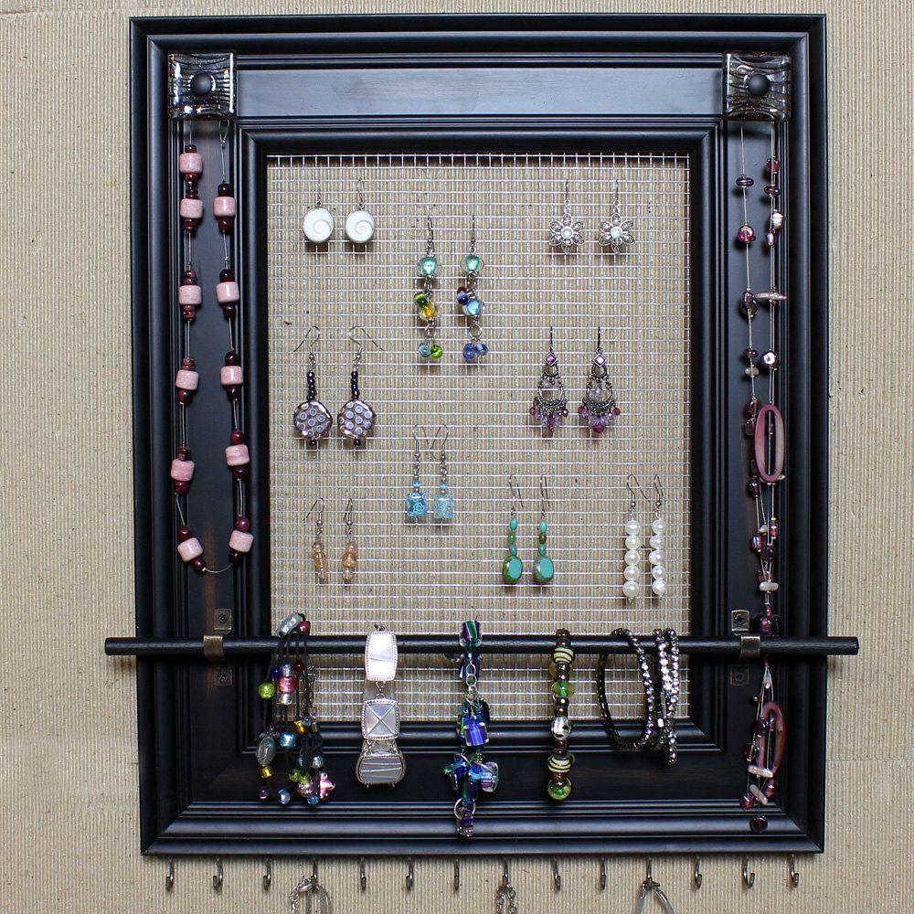 Custom Jewelry Display Frame: Picture Frame Screen Jewelry Holder