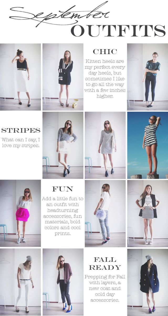 Lovebeingpetite.com  Outfits overview – September