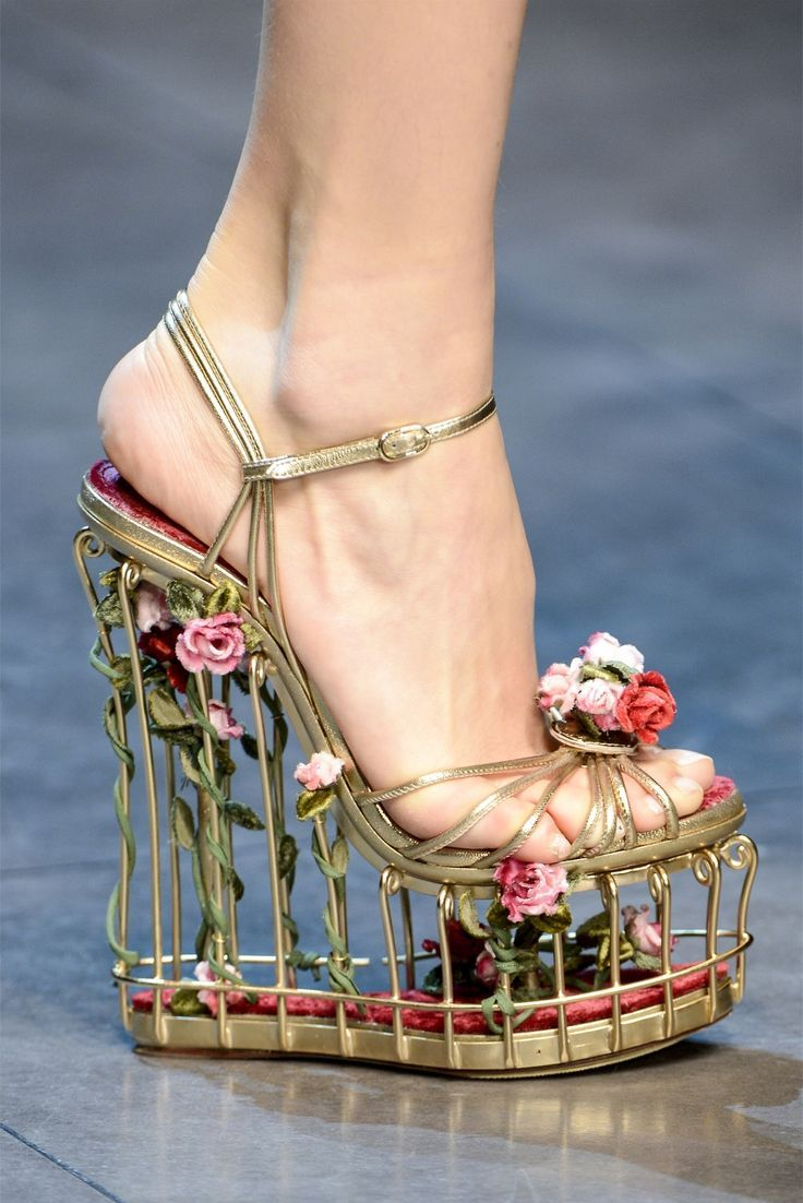 becbc5474be7 Dolce Gabbana cagey floral shoe. I kind of want to keep a .