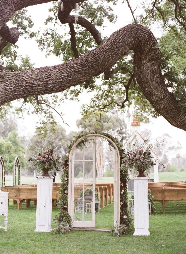 Amazing Wedding Ceremony Aisle Decor Inspiration Romantic French Door Entrance