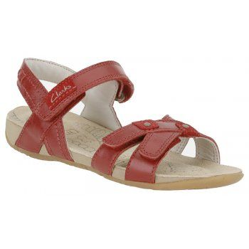 dbc2709723496a Clarks Rio Rosy Red Girls Sandals - Clarks from Charles Clinkard UK