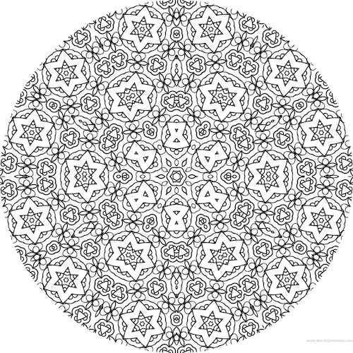 coloriage anti stress colorier en ligne mandala coloriage adulte via dessin2mandala - Coloriage Anti Stress En Ligne