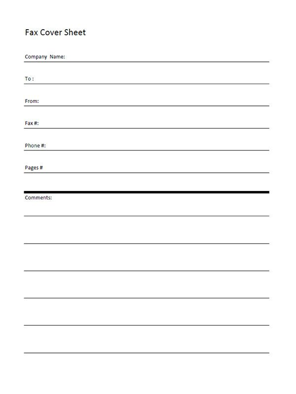 Printable Fax Cover Sheet - Free Fax Cover Sheet Template Printable