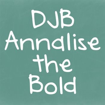 Download DJB Annalise the Bold Font - Personal Use | Bold fonts ...