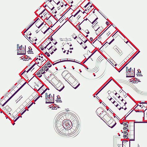 مخطط دور واحد استراحة House Elevation House Plans House Design