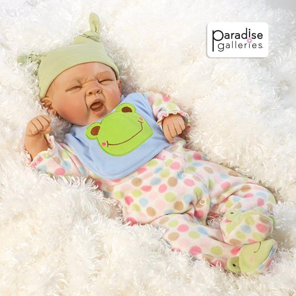 Paradise Galleries Realistic Reborn Baby Boy Doll, Sleepy