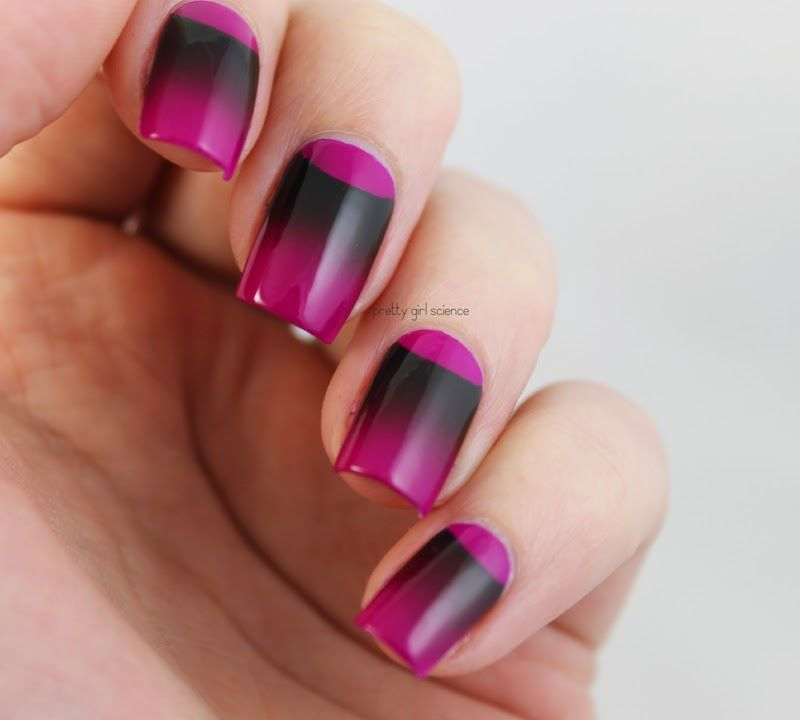 Science Nail Designs: Pretty Girl Science: A Different Kind Of Gradient