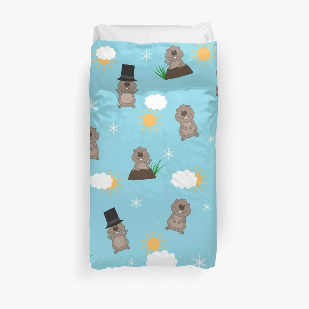 Groundhog Day Pattern Duvet Cover By Valentinahramov