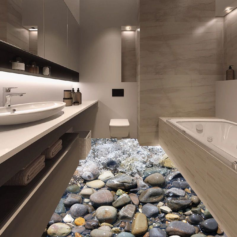 3D Stone Floor//Wall Sticker Mural Decal Removable Vinyl Art Living Kitchen Decor