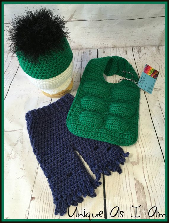 Crochet Baby Hulk inspired Outfit/Photo Prop | Crocheting Halloween ...