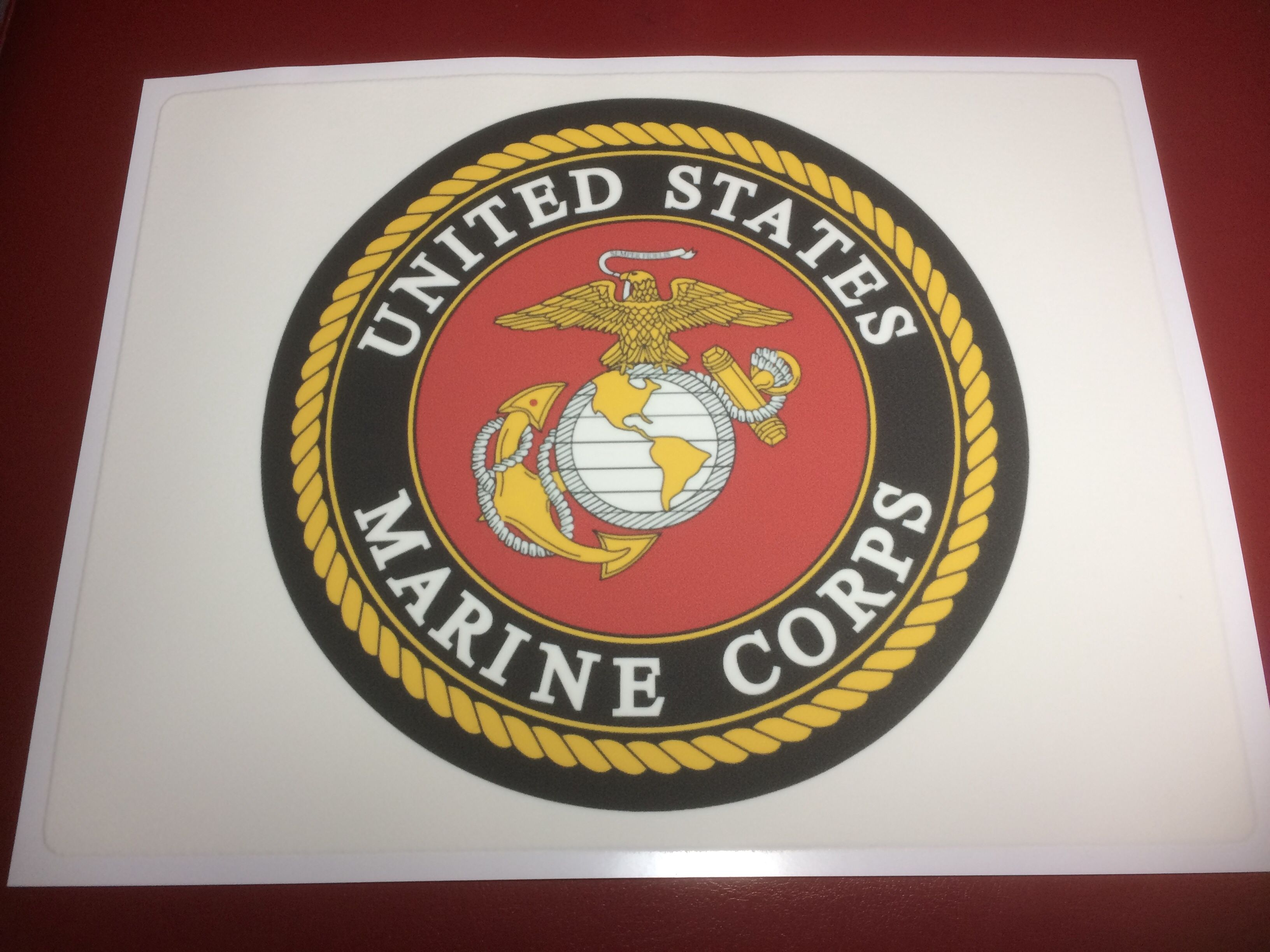 United States Marine Corps Logo Edible Cake Topper in 2020