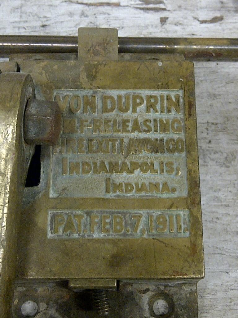 #VonDuprin exit device unearthed during renovations at a #Calgary school.