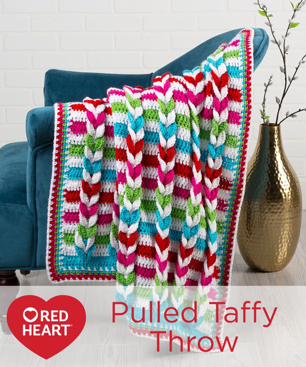 Pulled Taffy Blanket Free Crochet Pattern in Red Heart Yarns -- This ...