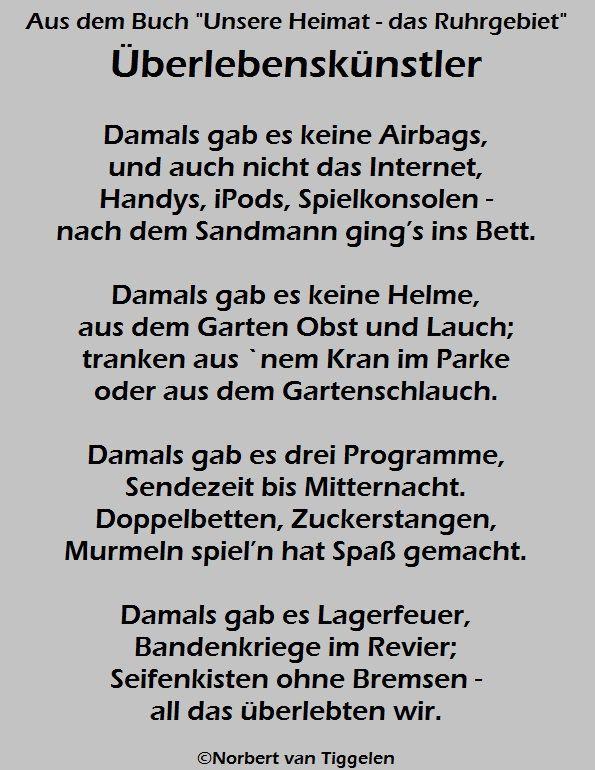 Buchtitel Unsere Heimat Das Ruhrgebiet Autor Norbert Van Tiggelen Weisheiten Ruhrgebiet Wahre Worte