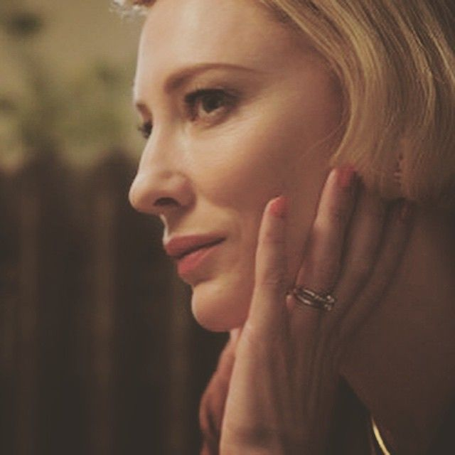 """Cate Blanchett plays #Carol Aird - """"Therese thought her beautiful, though her face was a blur now because she could not bear to look at it directly."""" (Patricia #Highsmith )"""