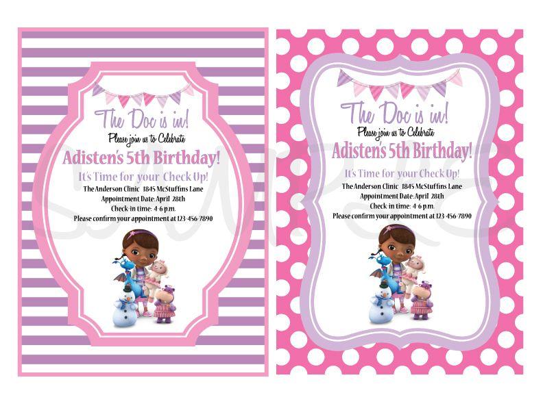 Doc McStuffins Party Printable Set Ideas for birthdays