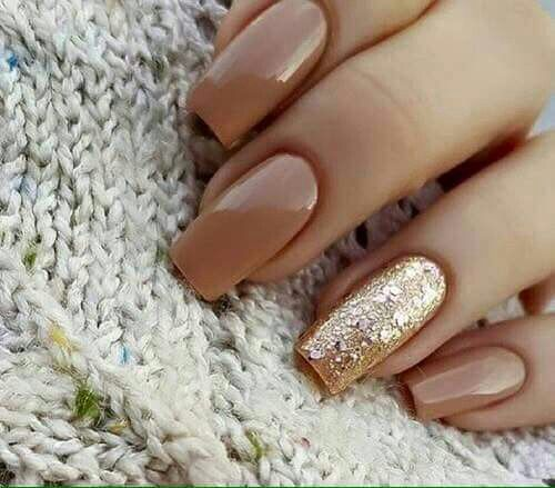 Cute light brown nails