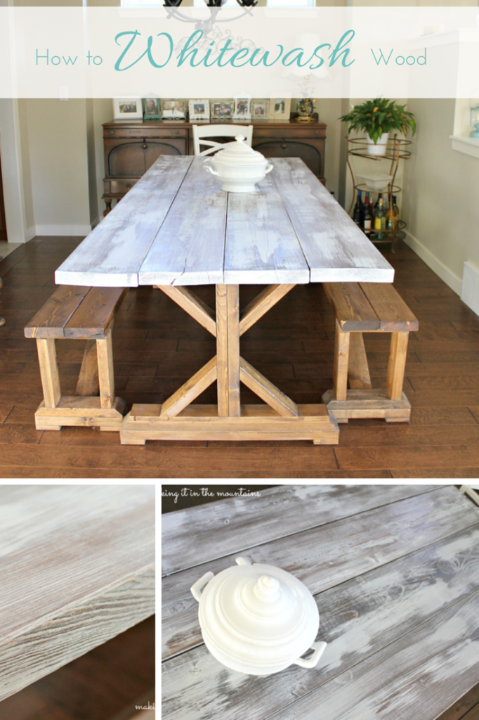 Ever Wonder How To Whitewash Wood? Hereu0027s Your Solution! The End Result Is  Stunning! @Making It In The Mountains