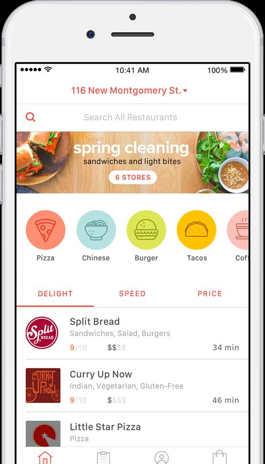 Doordash Food Delivery Can Make Mother S Day Easier App Design Layout Food App App Layout