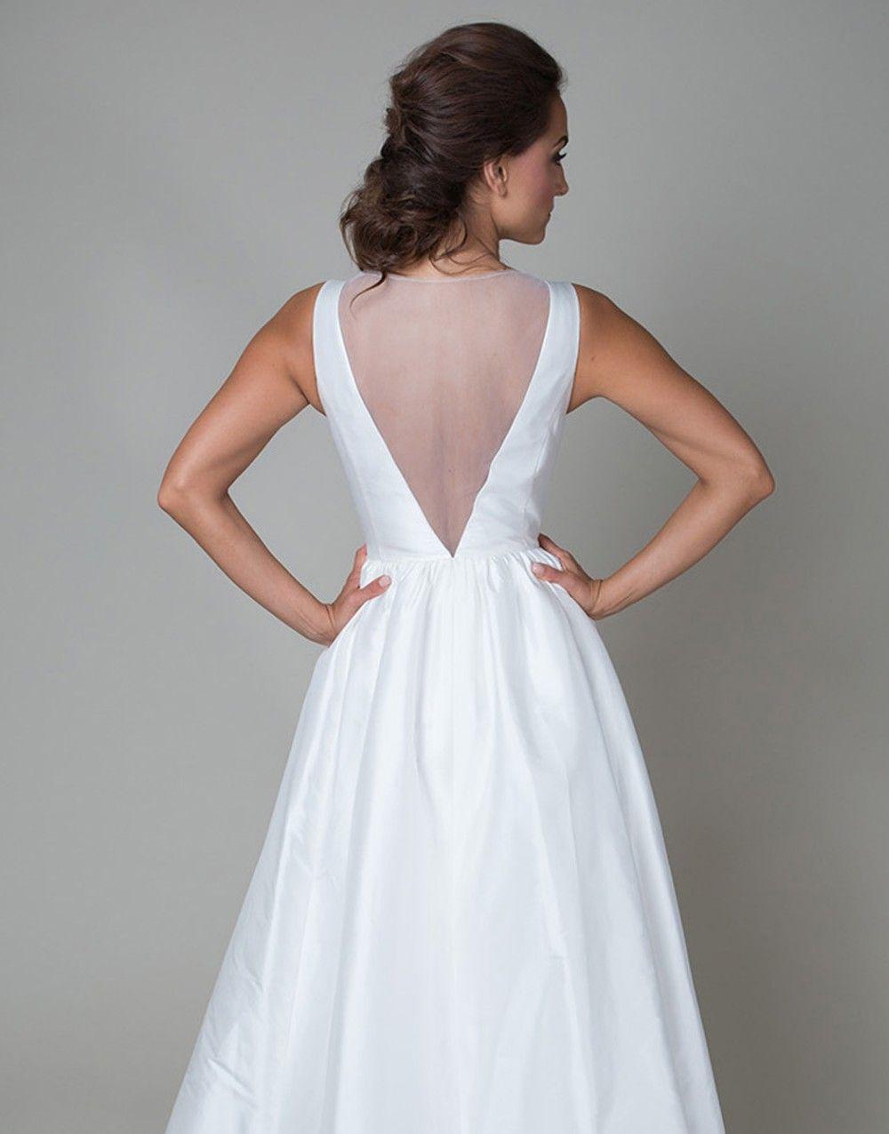 Vintage v neck see through long white boho beach wedding dress with