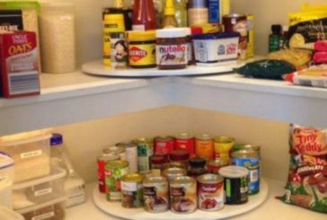DIY Lazy Susan Pantry Cleans Up The Clutter