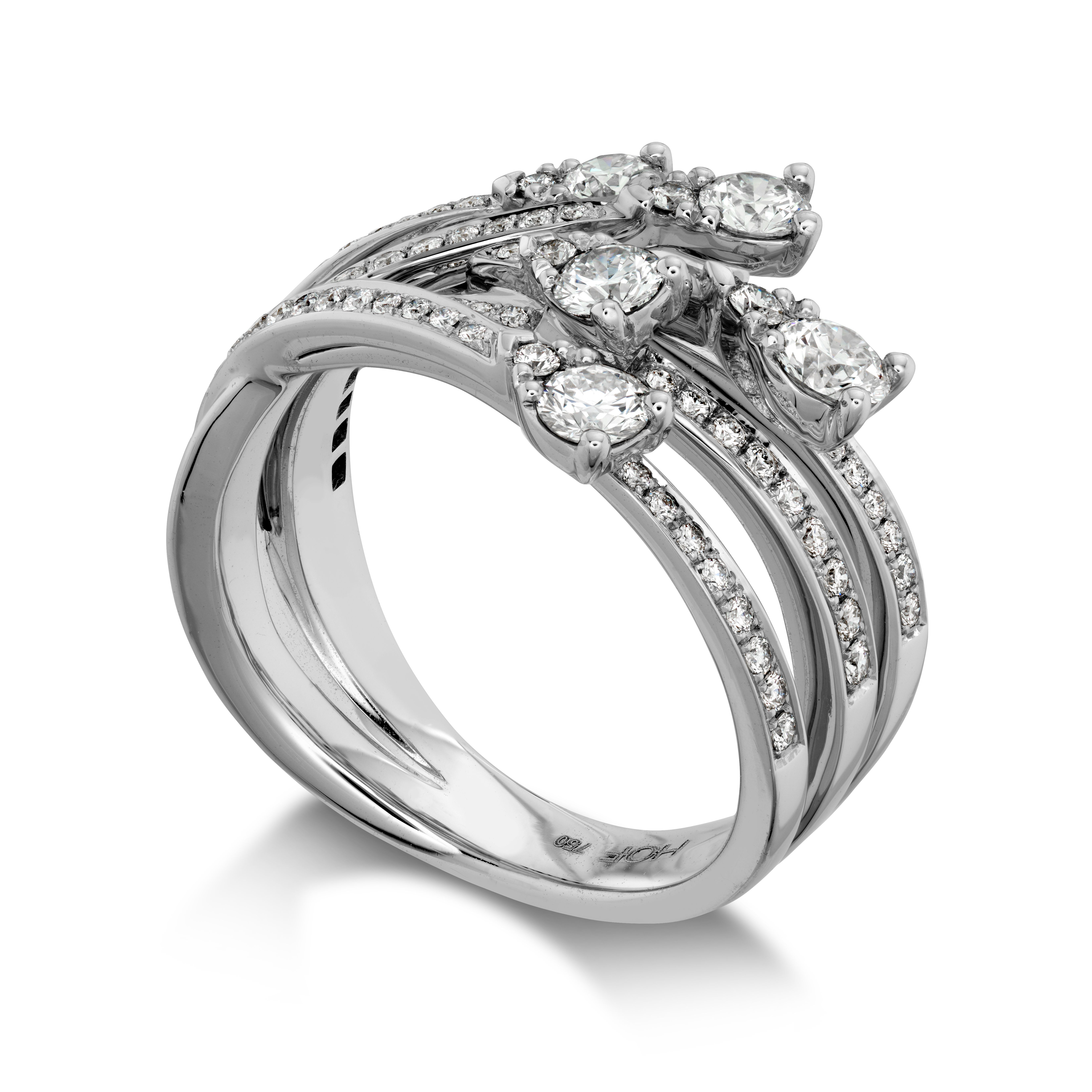 diamond amouria bypass ring multi double rings bands two stone