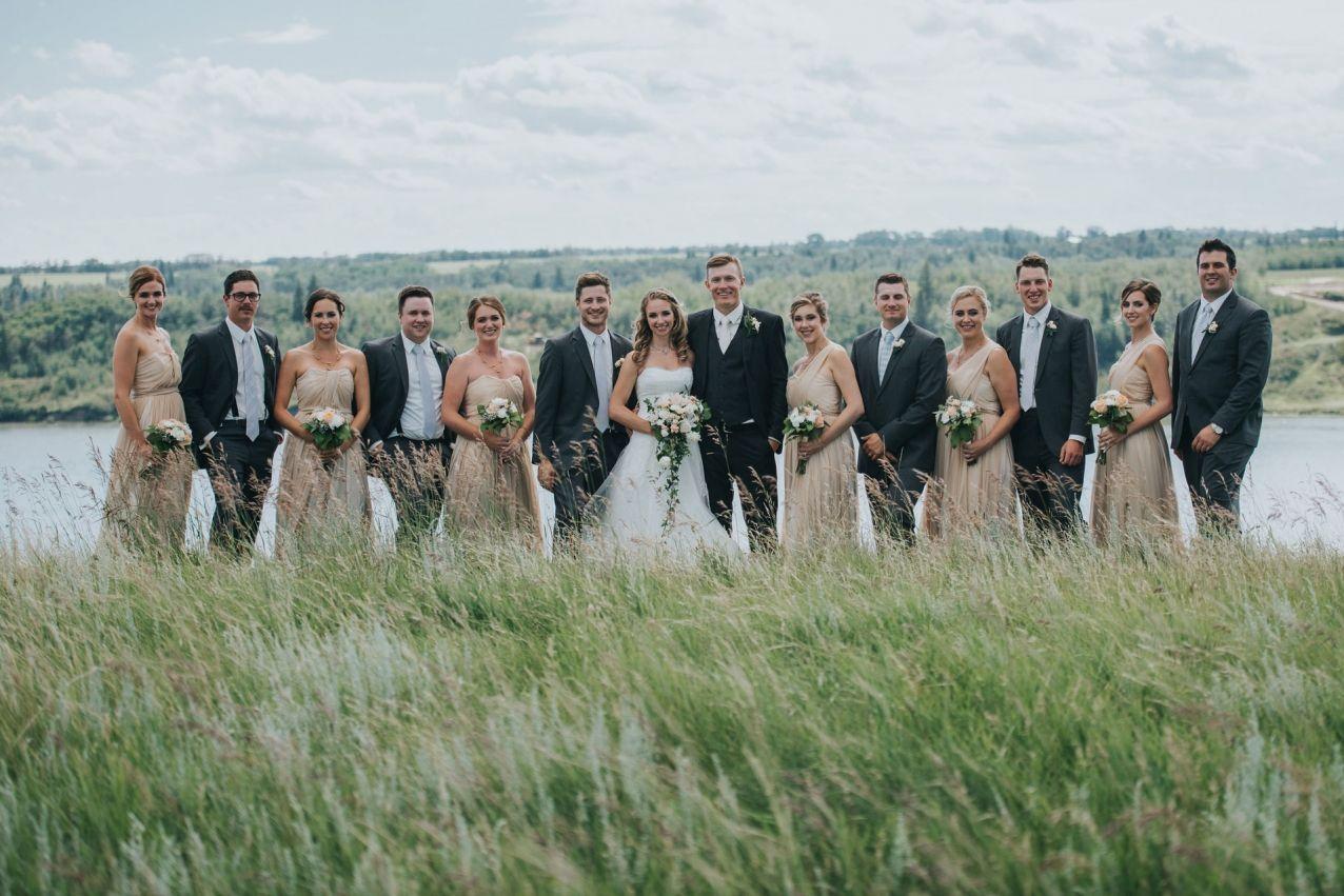 Light blue and gold wedding