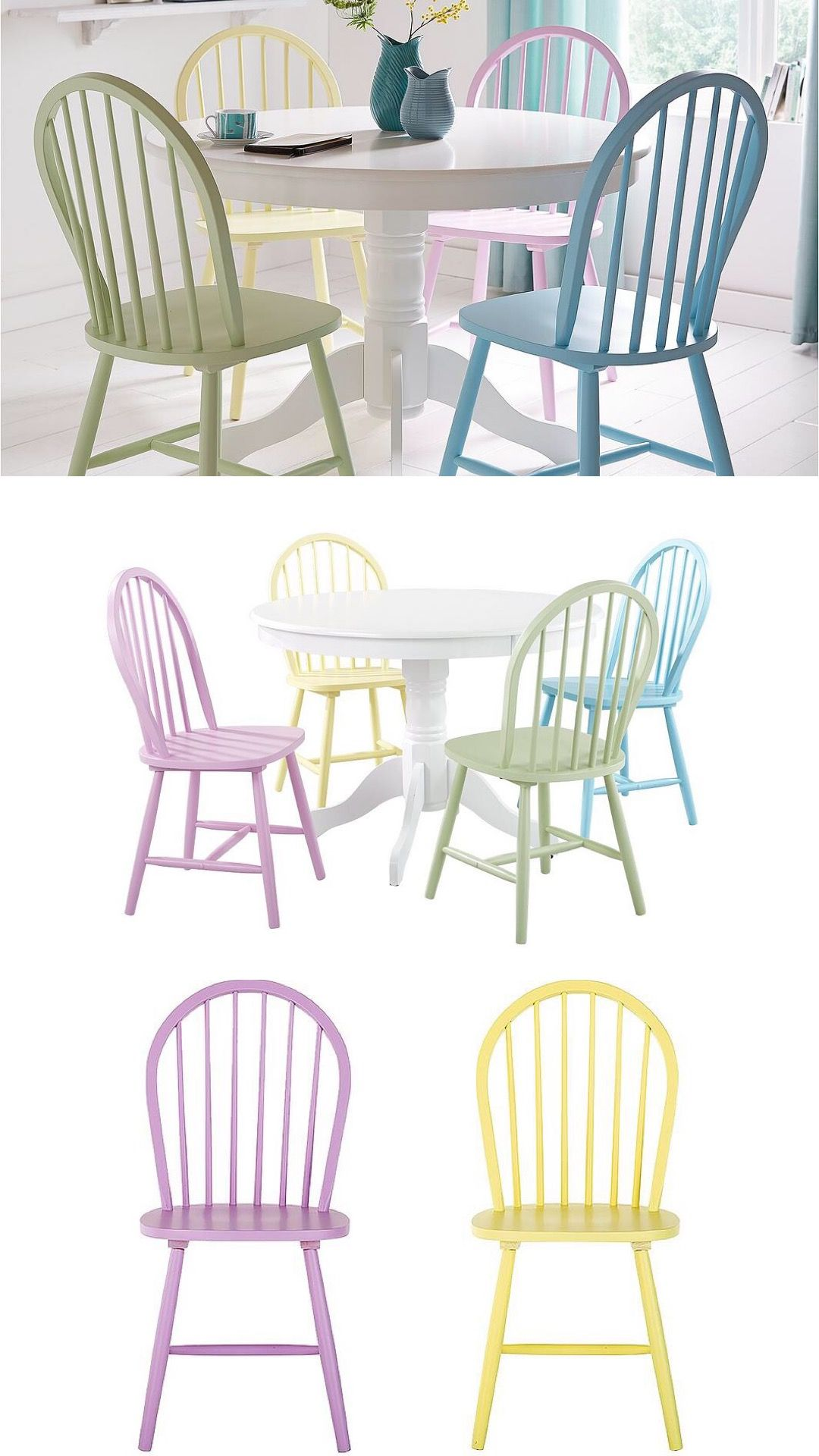 Ice cream tone dining chair set from Littlewoods online   Dining ...