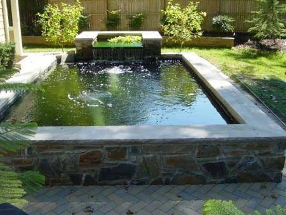 Landscaping And Outdoor Building , Raised Ponds : Square ... on Raised Garden Ponds Ideas id=52442