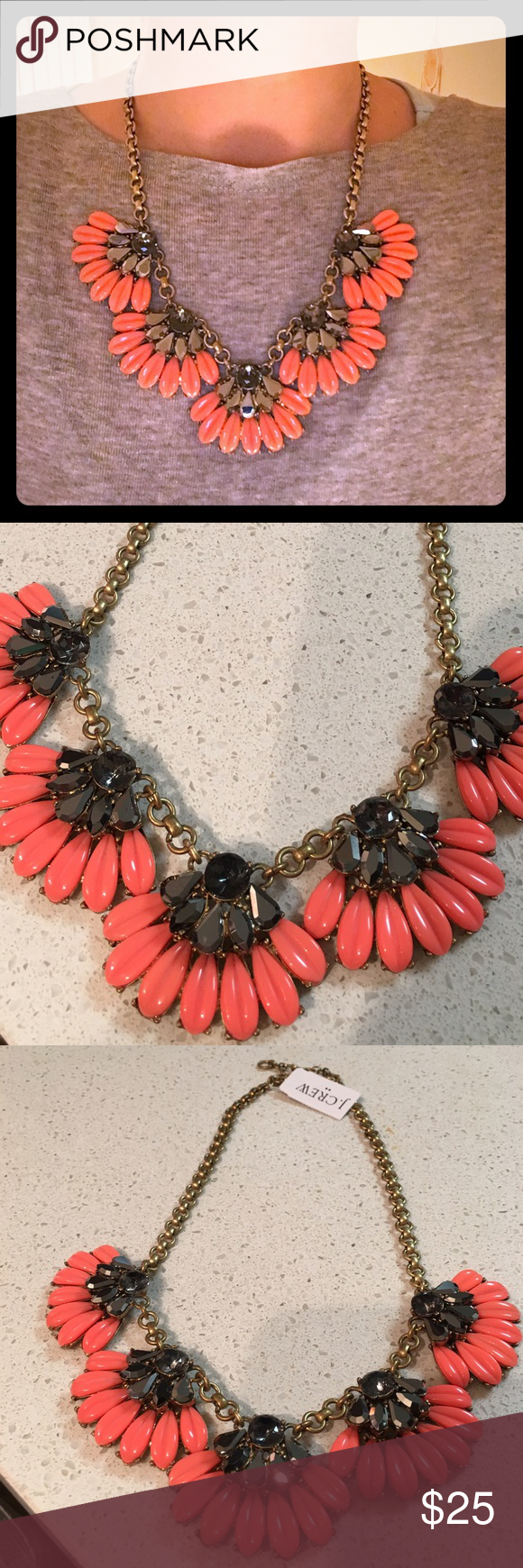 J. Crew Flower Statement Necklace Beautiful Necklace. Comes with original dust bag. Very gently used (maybe once or twice). J. Crew Jewelry Necklaces