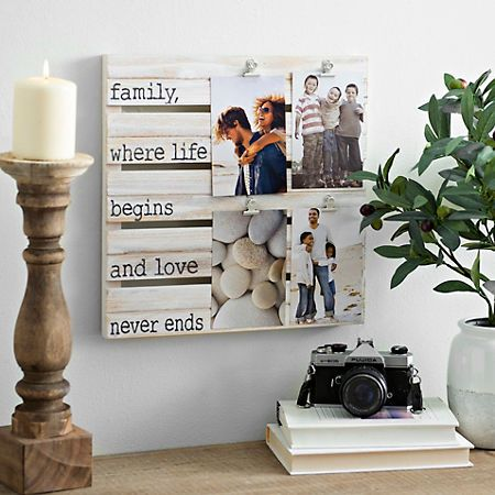 Family Wood Pallet Clip Collage Frame | Wood pallets, Pallets and ...