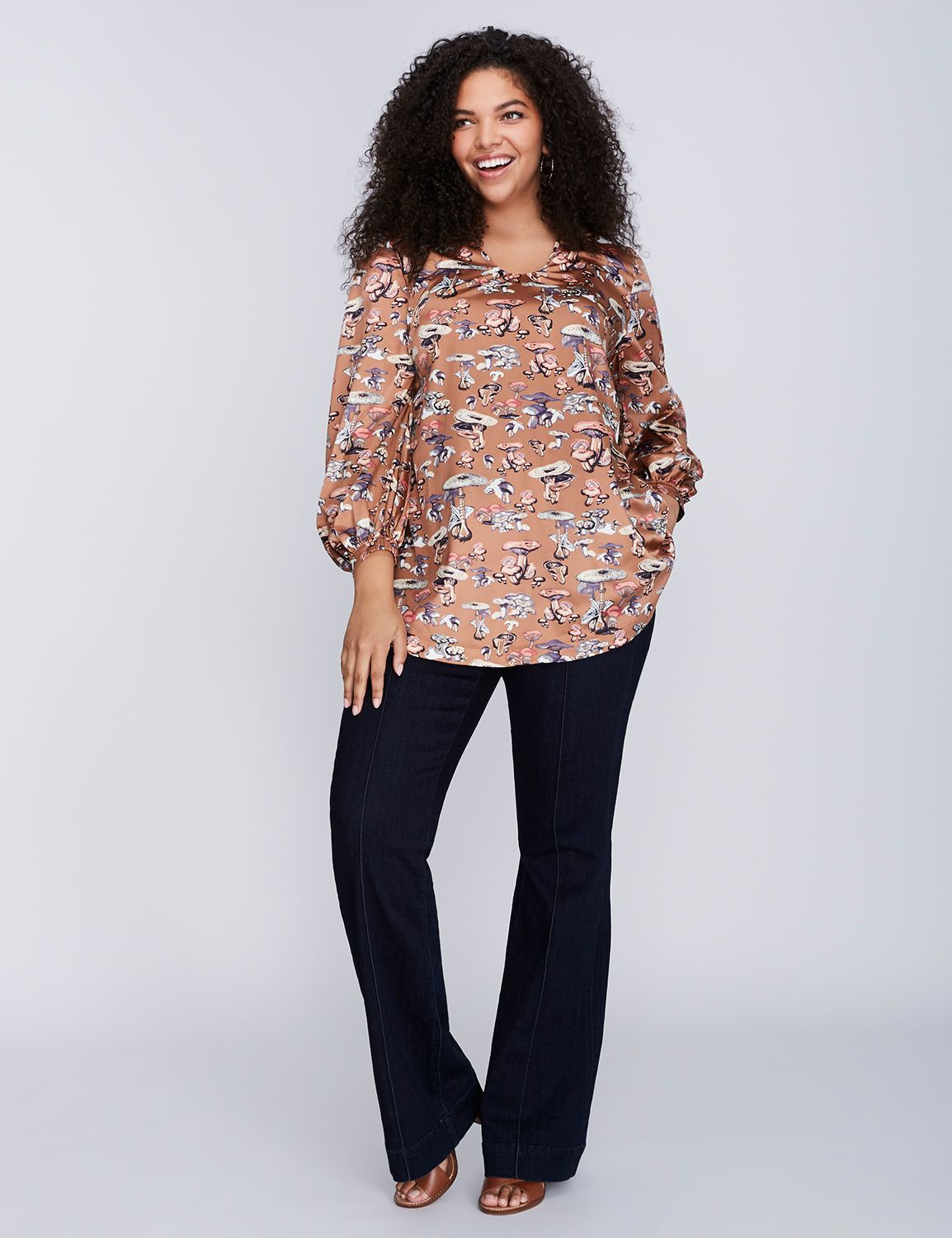 c63f1aab 70s Blouse by Melissa McCarthy Seven7 Plus Size Blouses, Plus Size Tops,  Melissa Mccarthy