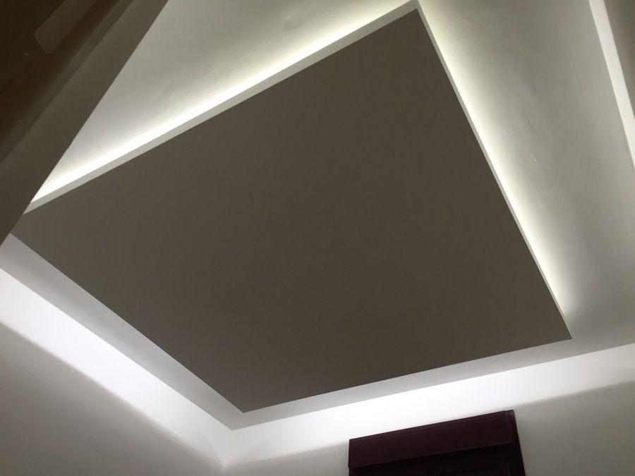 Falso techo de pladur con luz indirecta de led 900 675 sms pinterest - Como colocar falso techo de pladur ...