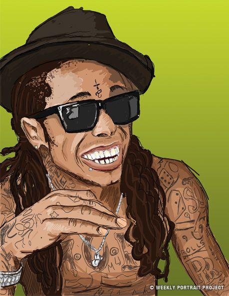 Lil Wayne Drawing Tumblr Rapper Art Hip Hop Artwork Hip Hop Art