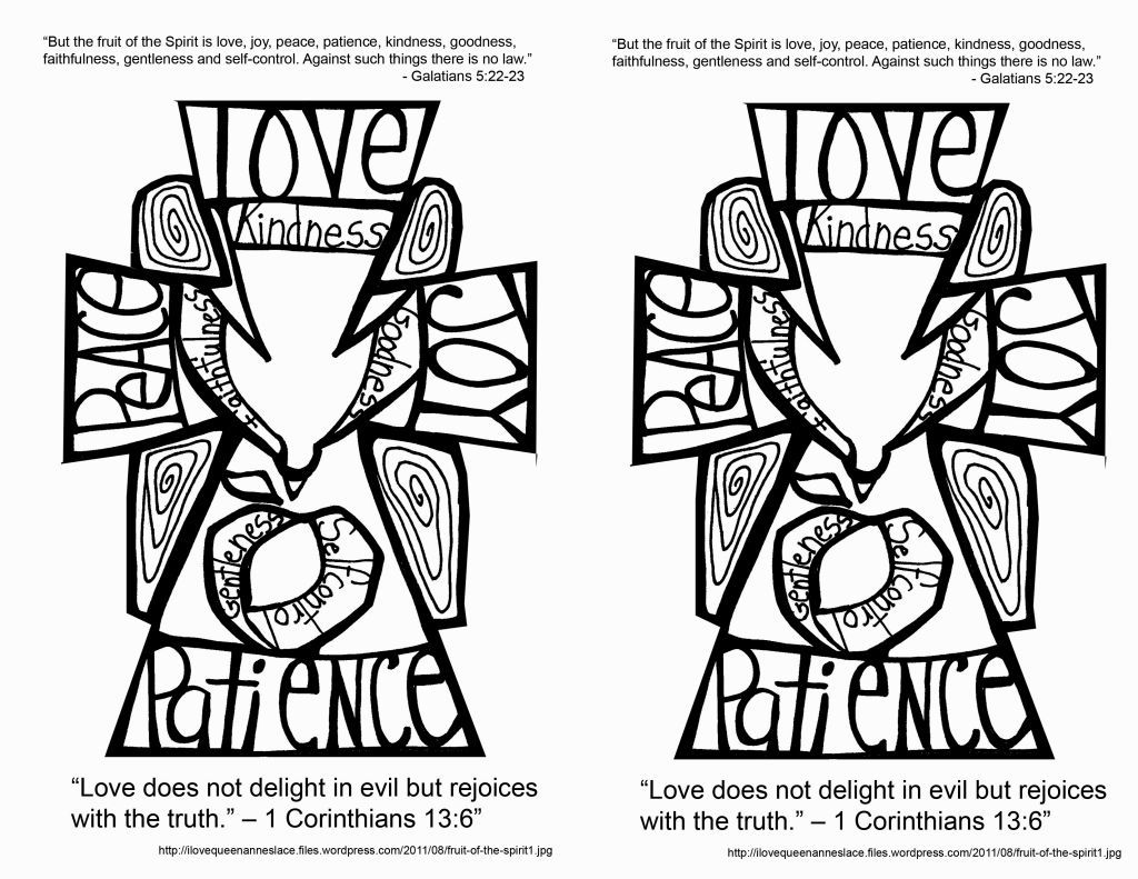 Childrens coloring pages for the fruits of the spirit - Fruit Of The Spirit Coloring Pages