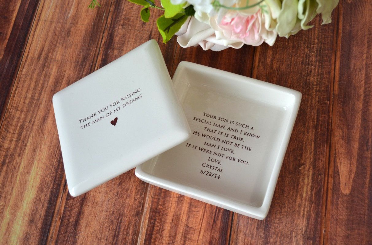 Unique Mother Of The Groom Gift Square Keepsake Box By Susabellas