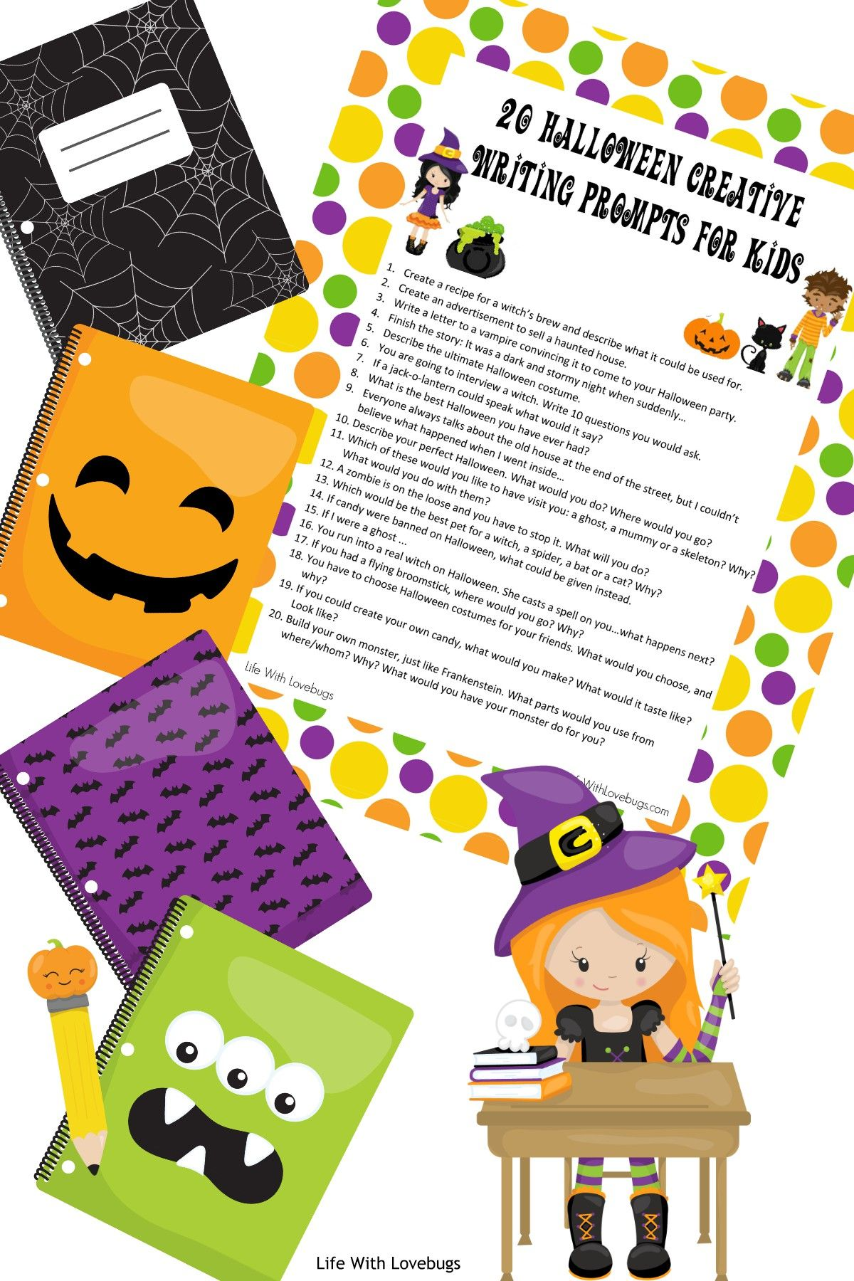 20 Halloween Writing Prompts For Kids With Images