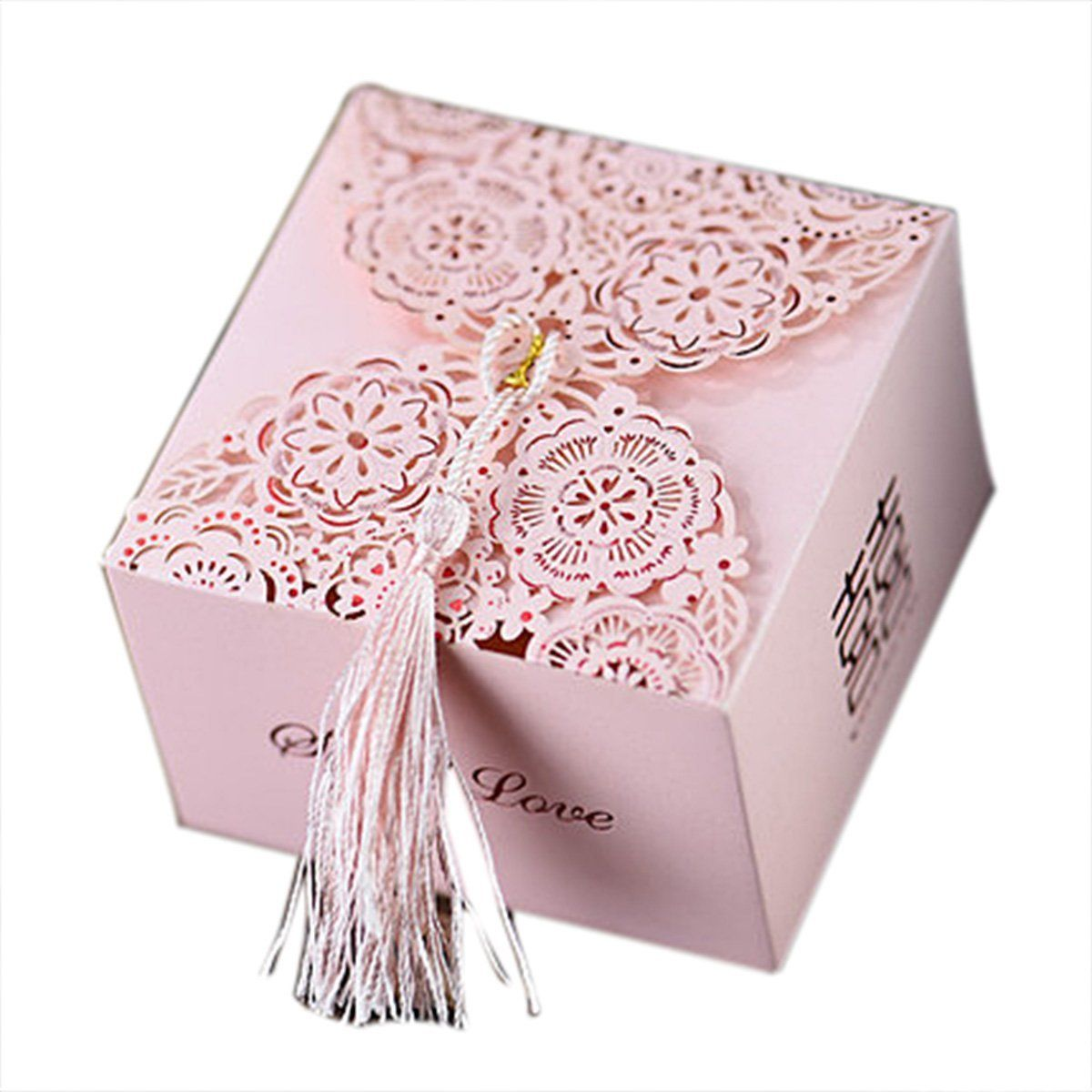 50Pcs Oversized Wedding Favor Candy Box Party Gift Box Romantic ...