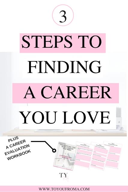 3 Steps To Finding A Career You Love Est Career Find A Career I