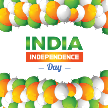 India Independence Day With Balloon, India Independence