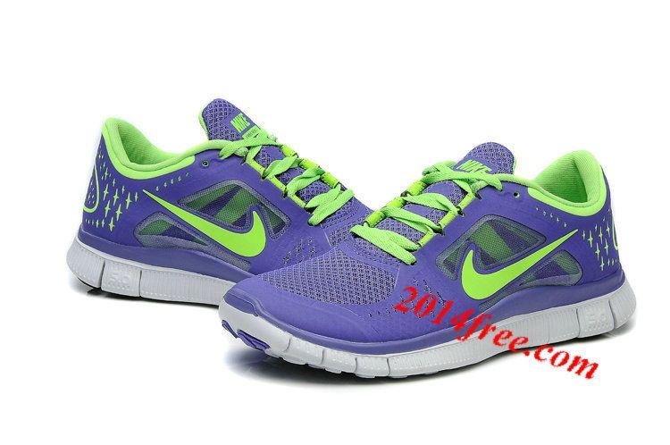 pretty nice 04501 6ff22 Womens  Nike  Free Run 3 Purple Green Shoes  cheap