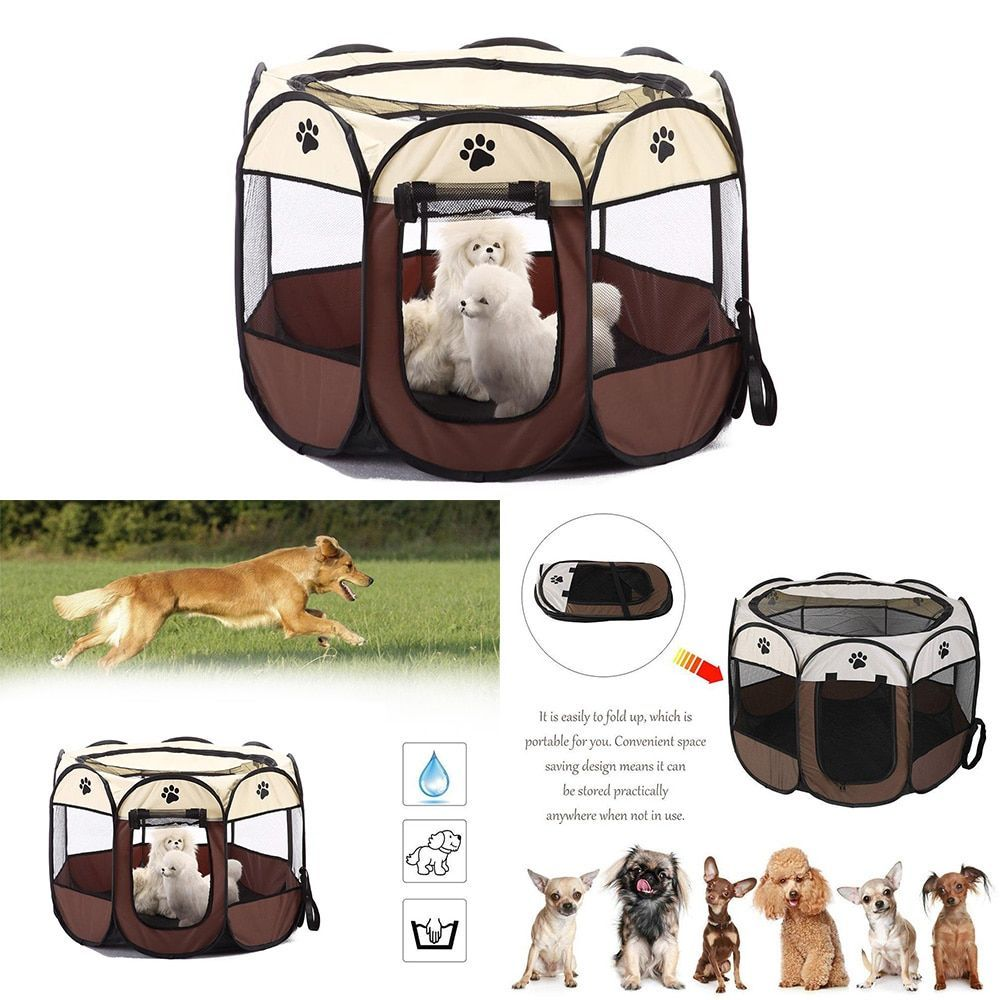Best Free Dog House Pet Tent Folding Octagonal Pet Fence Oxford Cloth Outdoor Pet Cat Dog  Suggestions Nowadays pets are whole family unit members but this has not always...