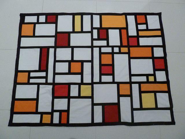 Piet Mondrian meets modern quilt bee!