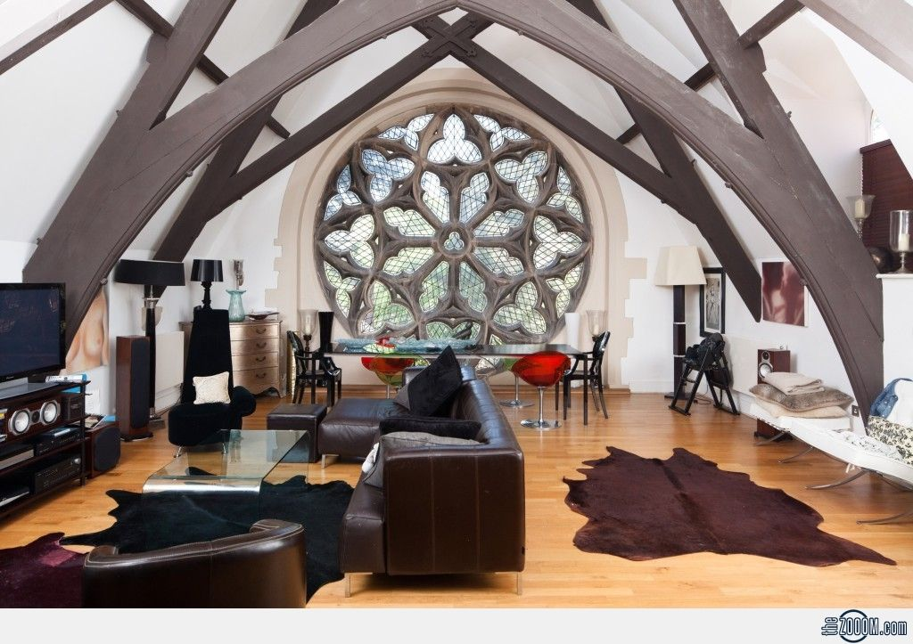 church loft converted building conversion architecture design pinterest wohnzimmer. Black Bedroom Furniture Sets. Home Design Ideas