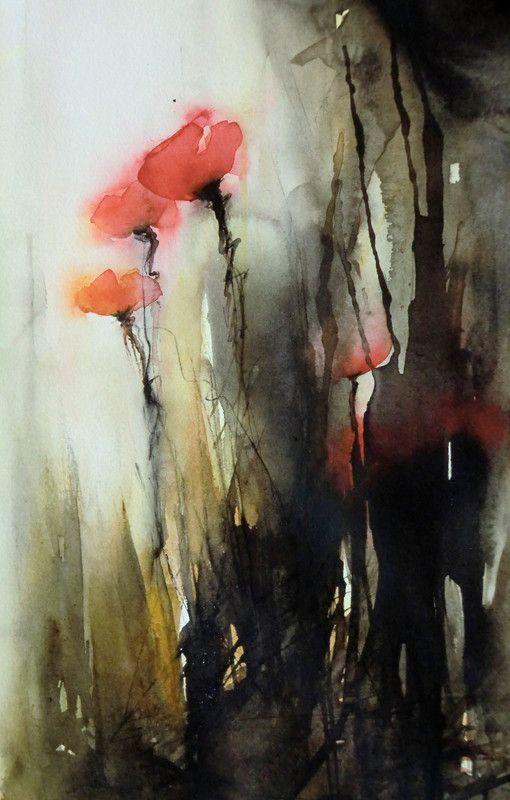 Pia Erlandsson Swedish Watercolor Painter Art Watercolor Art Dark Art Paintings