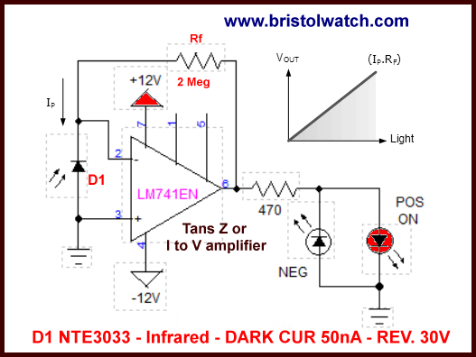 Infrared Headphones Circuit Schematic Diagram
