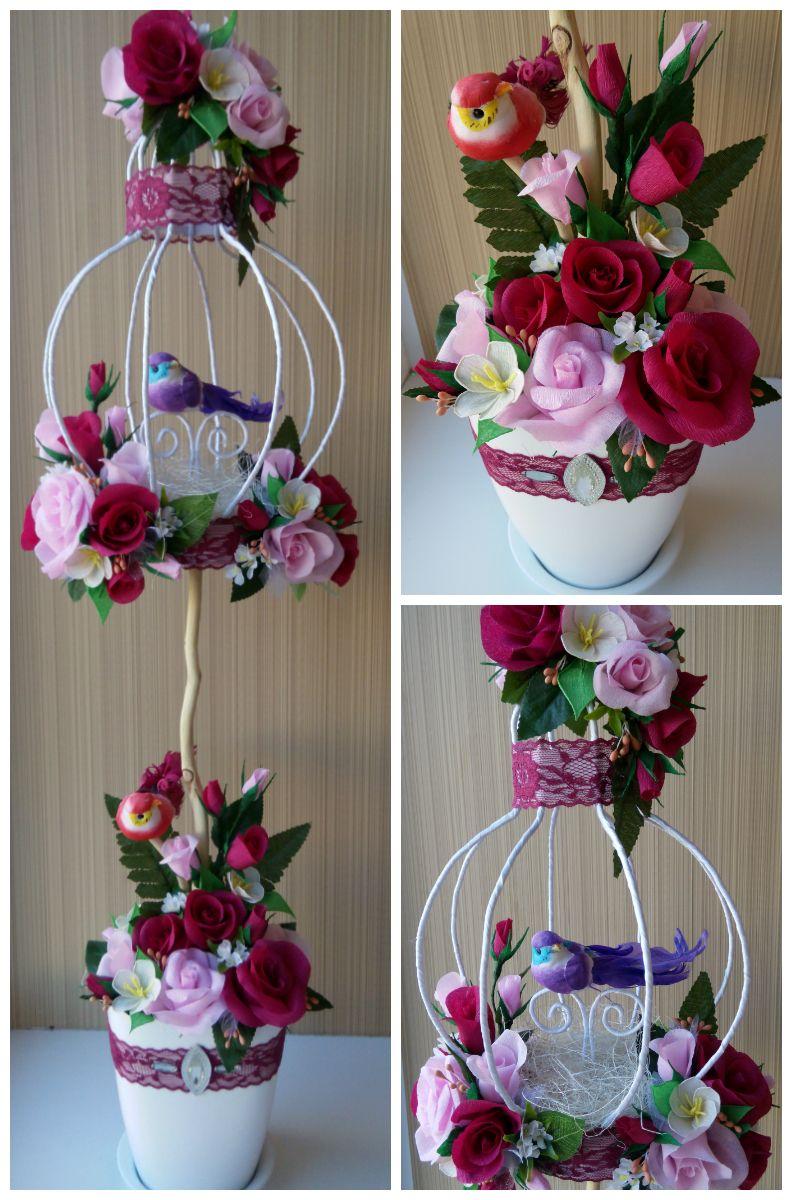 Топиарий-клетка | Топиарии | Pinterest | Topiary, Craft and Flowers