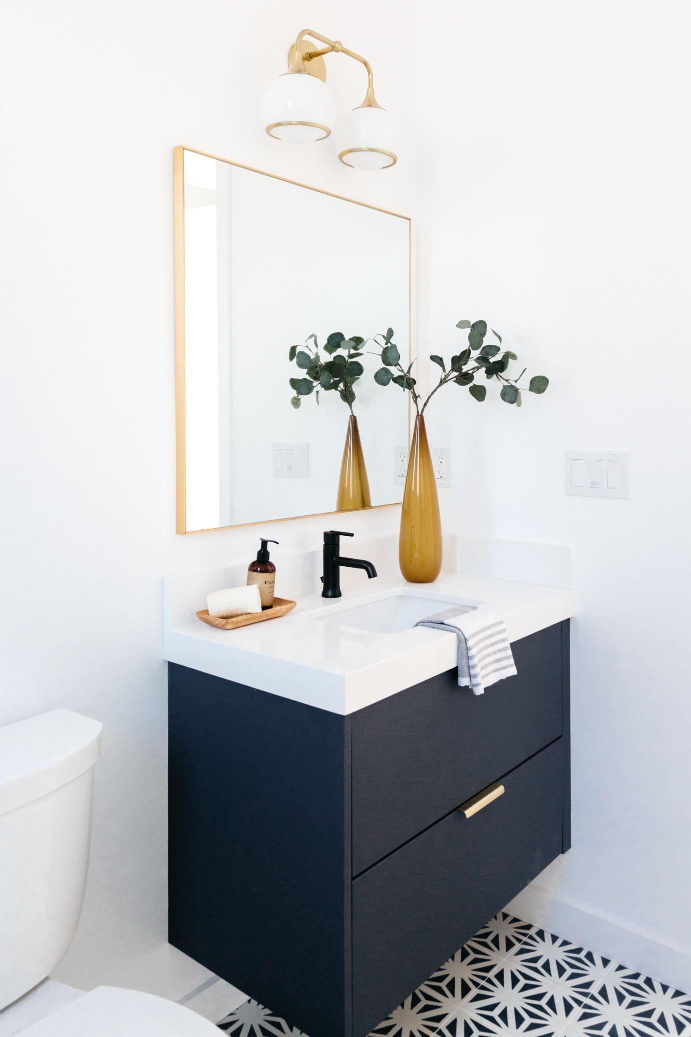 Semihandmade cabinet fronts in the bathroom in 2020 | Ikea ...