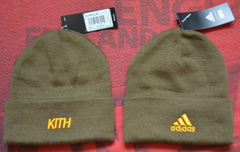 40b26c27 Adidas X KITH Soccer Rays Olive Beanie Hat K Wollie | Clothing, Shoes &  Accessories, Men's Accessories, Hats | eBay!